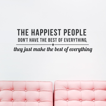 The Happiest People Quote