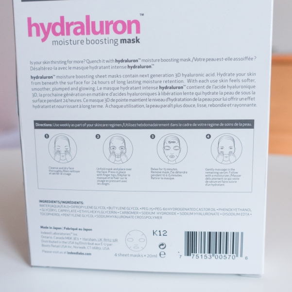 Indeed Lab Hydraluron Masks | Katie Woo